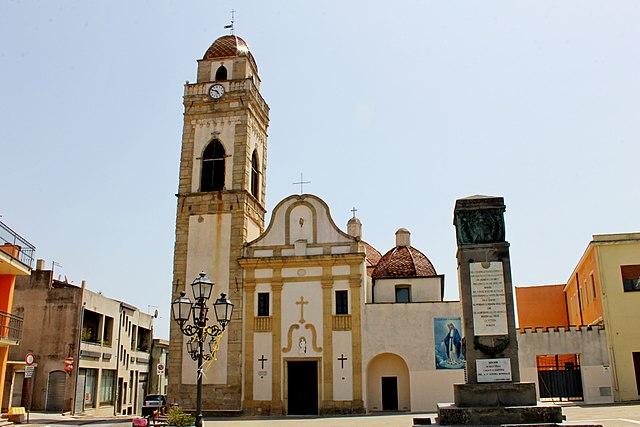 Foto della Chiesa di Santa Barbara a Senorbì dove si sono svolti i funerali di Paola Sechi