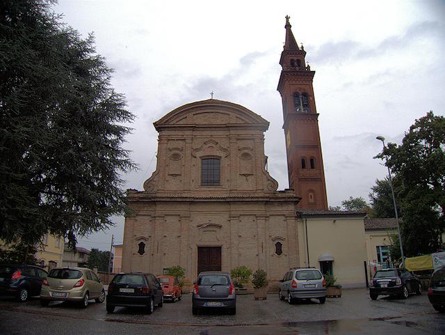 Foto della Chiesa di San Bernardino, situata nel quartiere omonimo (dove abitava Sabrina Beccalli), nella frazione di Vergonzana a Crema in provincia di Cremona