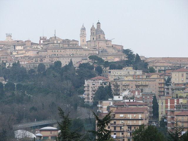 Uno scorcio di Macerata, capoluogo della provincia omonima nelle Marche