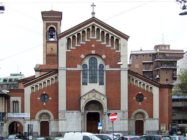 Foto della Chiesa di San Pietro in Sala a Milano dove sono stati celebrati i funerali della piccola Edith