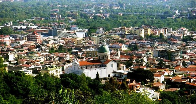 Uno scorcio panoramico dall'alto di Ottaviano, comune in provincia di Napoli dove i coniugi Tortora e Nunziata abitavano