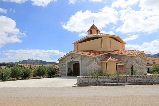 Foto della Chiesa di San Nicola a Ozieri, in provincia di Sassari,  dove si sono svolti i funerali di Romina Meloni