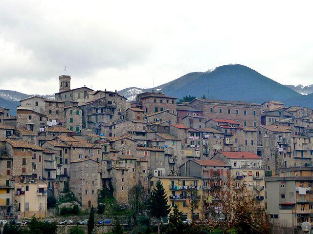 Foto panoramica di Carpineto Romano scattata dalla Chiesa di San Pietro Apostolo