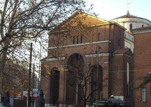Foto della Chiesa di San Protaso a Milano dove si sono svolti i funerali di Jessica Valentina Faoro