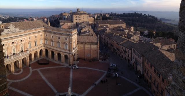 Vista dall'alto di Recanati dalla Torre Civica