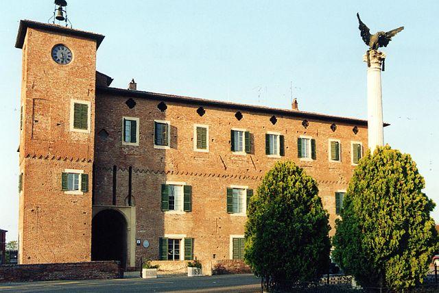Foto della Rocca sforzesca di Borgonovo Valtidone, uno dei monumenti più importanti della città, sede del municipio