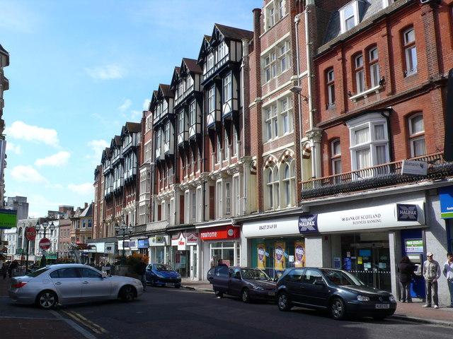 Foto del centro di Bournemouth, città della contea del Dorset situata sulla costa meridionale inglese del Regno Unito