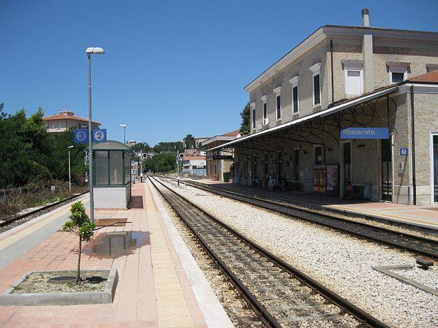 Foto della stazione di Macerata dove Pamela Mastropietro ha cercato di prendere un treno per Roma la sera del 29 gennaio 2018 e la mattina seguente
