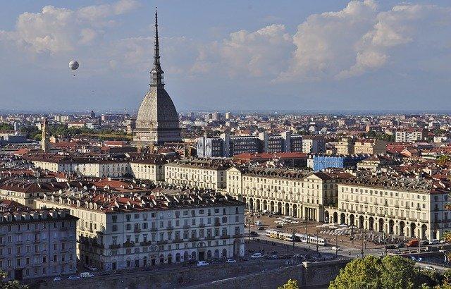 Uno scorcio panoramico dall'alto di Torino