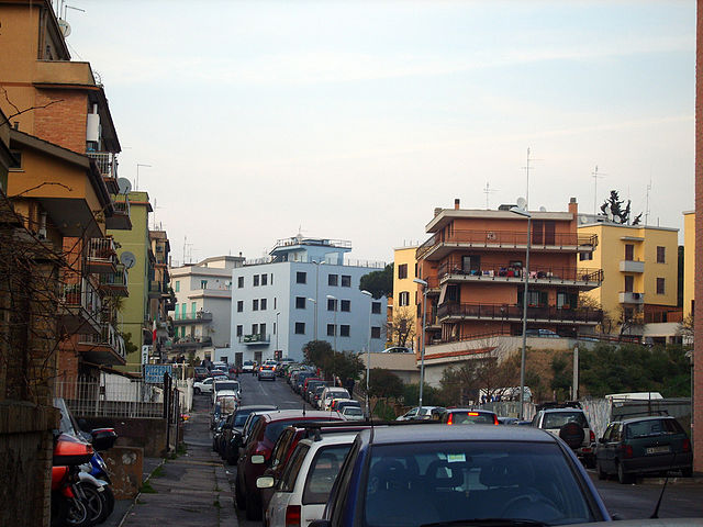 Una foto del quartiere Primavalle di Roma