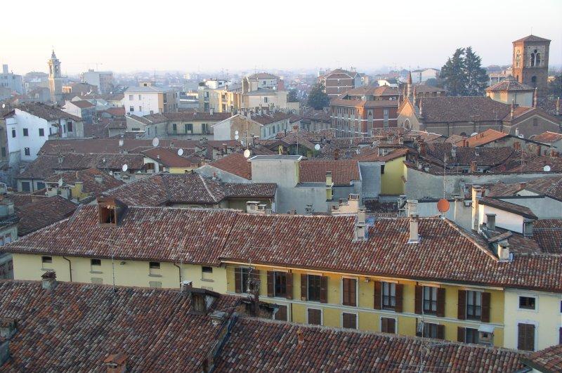 Foto panoramica di Vigevano scattata dalla Torre del Bramante